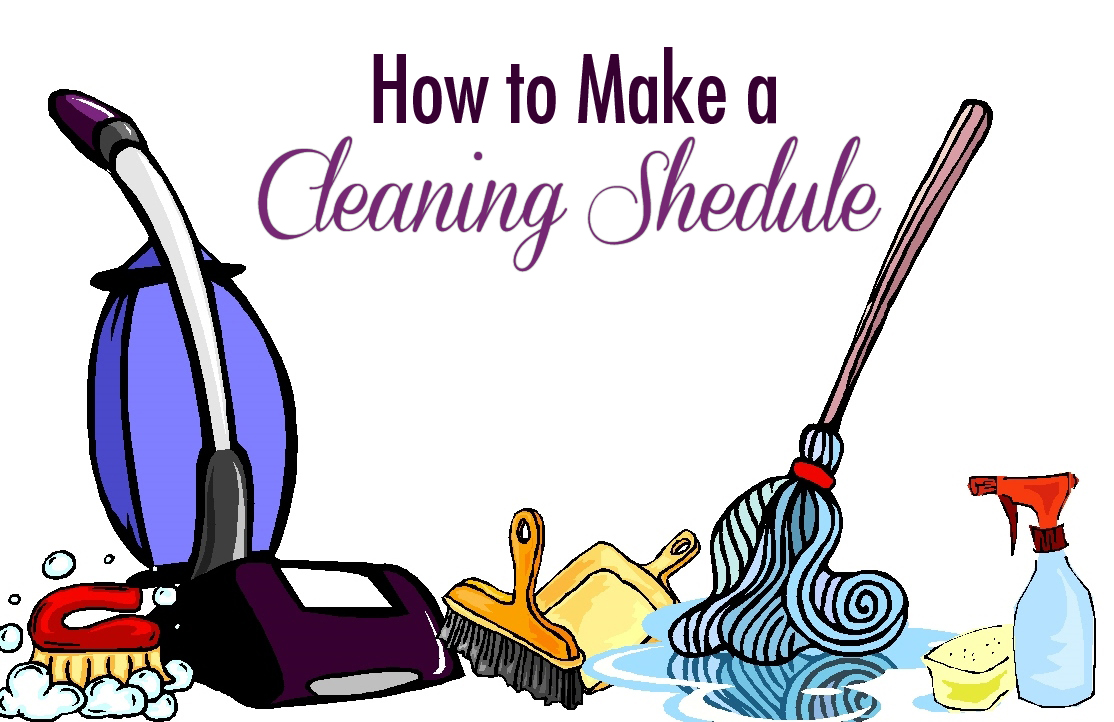 Making a cleaning schedule quarter past normal for How often to clean bathroom